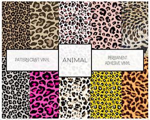 Animal Print Pattern Vinyl Leopard Print Oracal Adhesive Vinyl 12 inch roll