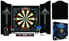 WINMAU PROFESSIONAL Dart Board SET DIAMOND + 2 x sets of Darts + Cabinet Gift