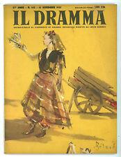 IL DRAMMA N. 145 1951 COPERTINA CHRISTIAN BERARD ELMER HARRIS JOHNNY BELINDA