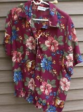 Woman's Floral Print Sheer Blouse by Alfred Dunner; Size: 16