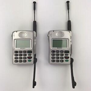 Vintage Sony D-Wave Zuma CM-Z200 Cellular Phone No Charger Flip Down Microphone