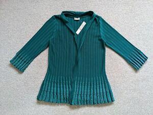Per Una Ladies Teal Open Cardigan- Size 10 BNWT