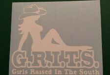 Vinyl Decal Sticker..Girls Raised In The South..Grits..Funny Car Truck Window