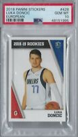 LUKA DONCIC 2018-19 PANINI STICKER EUROPEAN ROOKIE RC #428 PSA 10 GEM MINT