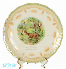 Ancient looking antique FAIRVIEW MONTANA advertising plate w/ DEER hunting scene