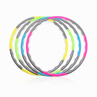 Hula Hoop Fitness Exercise Ring Removable Gym weighted Training fitness Adult