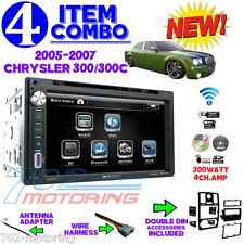 05 06 07 CHRYSLER 300 300C DOUBLE DIN CAR RADIO STEREO + INSTALLATION DASH KIT