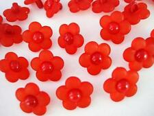 20 Daisy Flower Plastic Sewing Button/Trim/Kids/Girl/Baby/Knit/Shank Sb71-Red