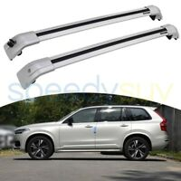 US Stock For Volvo XC90 2015-2021 Silver Lockable Cross Bars Roof Rack Rails