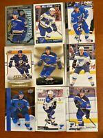 St Louis Blues 25 Card Lot -  Tarasenko, O'Reilly, Perron, Binnington and more