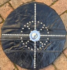 More details for shield black leather 16 inch dia  made with kevlar back stab proof free post uk