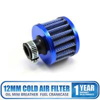 12mm Universal Coche 12mm de Aire Azul Filtro Afilado Ventilación Turbo Motor
