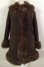Vintage Shearling Brown Sheepskin Coat Jacket S/M