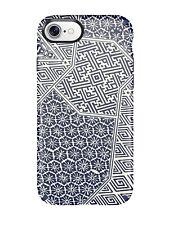 Speck Presidio Inked Case iPhone 7 Shibori Tile Blue Matte Marine Blue