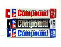 TAMIYA Polishing Compound Fin&Finish&Coarse set/ 87068 87069 87070 Made in Japan
