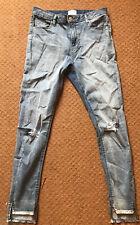 ASOS x Miss Selfridge Skinny Lightwash Denim Jeans Size 12