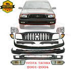 For 2001-2004 Toyota Tacoma 2wd Front Bumper Primed Kit Grille Headlights 12pc
