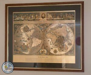 BLAEU WALL MAP OLD & NEW WORLD NOVA TOTIVS SIVE TERRAROM ORBIS TABVLA
