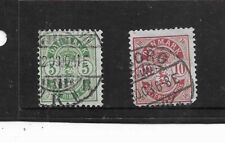 Denmark 1884-1885. Coat Of Arms. Large Corner Numbers. Used. As Per Scan