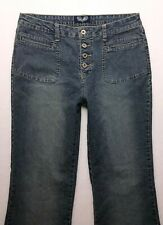 R150 Angels Jeans High Rise Flare Super Stretch sz 16? (Mea 32x32)  Ships Fast!!