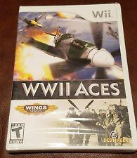 WWII Aces Spiel Nintendo Wii Flügel Serie Fabrik versiegelt akrobatische Arial bekämpfen