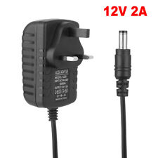 AC DC 12V 2A Power Supply Adapter Charger For LED Strip CCTV Camera UK Plug
