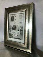 "Silver Picture Frame 5""x7"" Photo Home Interiors Free Standing Photography"