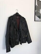 Scotch & Soda Herren Lederjacke Bikerstil - Bikerlederjacke schwarz Größe XL