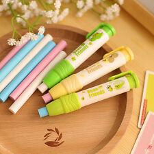 3pc/pack Eraser Rubber School Students Stationery Cute Pen shape Eraser Kid Gift