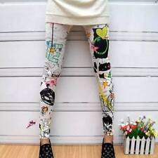 Snazzy's Love Graffiti Moda Donna Leggings Elastico Bambino Adolescenti Funky Pants