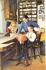 24277 AK Kulturbilder aus dem Erzgebirge Kinder beim Klöppeln 1914