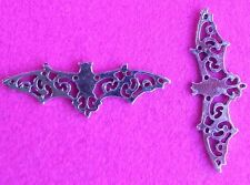 10 Flying Bat Abstract Hollow Wing Steampunk Pendant Connector Charms Bats