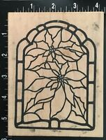 STAINED GLASS WINDOW PATTERN The Cottage Stamper Wood Mounted Rubber Stamp