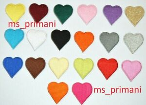 Embroidered Heart Love Logo Patch Iron On/Sew On Fancy Dress Badge 3.4 x 3.7 cm