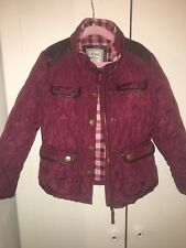Girls Burgundy Next 'Barbour style' Jacket in size 5-6 years