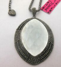 crystal mirror geometry necklace Betsey Johnson's new shiny black