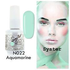 SYSTER 15ml Nail Art Soak Off Color UV Lamp Gel Polish N022 - Aquamarine