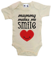 Dirty Fingers, Mummy makes me smile happy heart, Baby Bodysuit