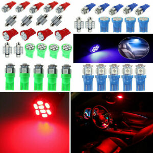 13pcs LED Lights Interior Package Kit In Car Map Dome License Plate Lamp Bulbs