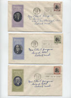 1938 Prexie FDC set 802-834 Ioor and Pavois cachets [y3312]