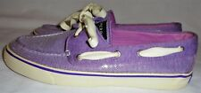 SPERRY, TOP SIDER, LADIES PURPLE SEQUINED BOAT SHOE, SIZE  8 1/2 M