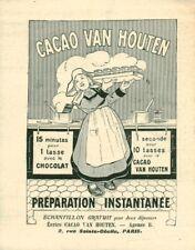 Publicité ancienne Cacao Van Houten préparation instantanée 1908 issue magazine