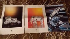 Lot of 3 Swarovski Scs Small Posters: Lion, Whales, Elephant