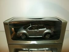 GATE 01284 VW VOLKSWAGEN NEW BEETLE CABRIO - SILVER 1:18 - EXCELLENT IN BOX