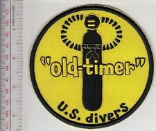 SCUBA Diving USA US Divers Aqua-Lung Mid 1960 to mid 1970 ''Old Timer'' Patch bl