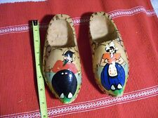 Made in Holland~Wooden Dutch Shoes~Hand Painted Hanging Decor
