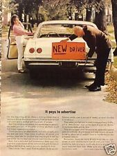 "1965 1966 Chevy Biscayne ORIGINAL Old Ad ""NEW DRIVER""  CMY STORE   5+= FREE SHIP"
