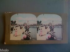 STC353 Angleterre Ile Wight couleurs STEREO Photography Stereoview