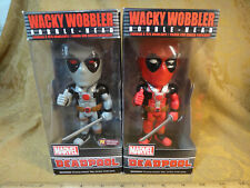 Lot Of Funko Wacky Wobbler Deadpool Bobble-Heads - PX Previews Exclusive Grey