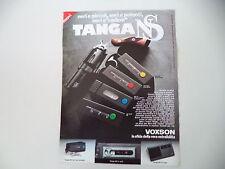 advertising Pubblicità 1980 VOXSON TANGA NS